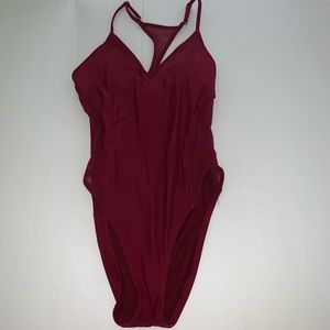 Mossimo burgundy wine one piece swimsuit small